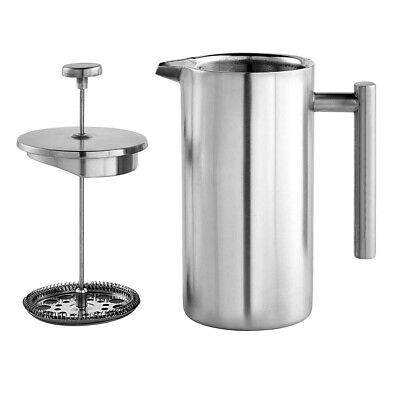 Double Walled French Press Heat Resistant Tea Cafetiere Coffee Filter Maker