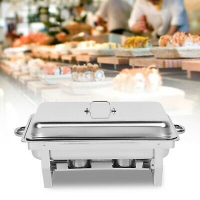 Square Stainless Steel Chafing Dish Outdoor Dining Server Buffet Pan Food Tray
