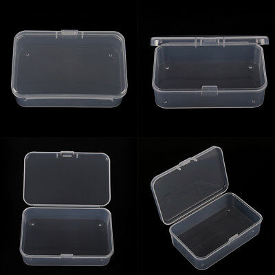 1Pcs Clear Plastic Transparent With Lid Storage Box Collection Container Case ..