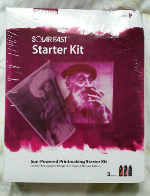 Jacquard SolarFast Starter Kit Sun-Powered Printmaking Starter Kit New Sealed