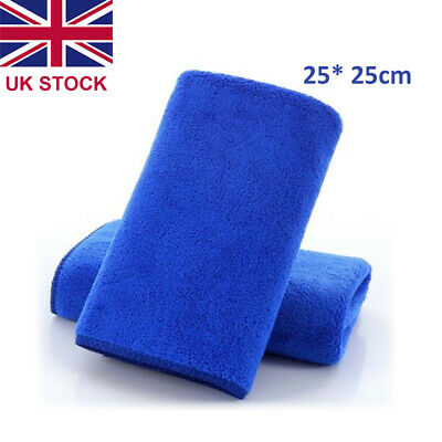 10 X Large Microfibre Cleaning Auto Car Detailing Soft Clothes Wash Towel Duster