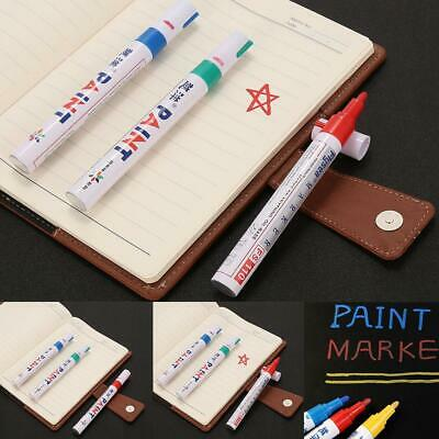 12 Colors Fine Paint Oil Based Art Marker Pen Glass Metal Waterproof New WO 01