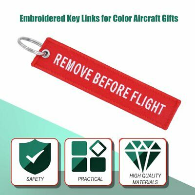 Remove Before Flight Key Chain Embroidery Key Ring Key Finder