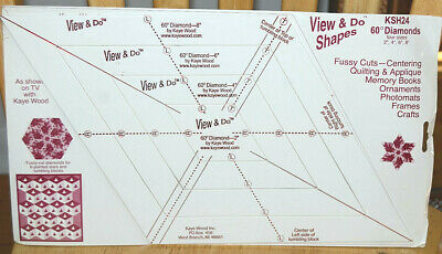 View & Do 60º Diamond Shape Template, from Kaye Wood Inc. KSH 24 Four Sizes