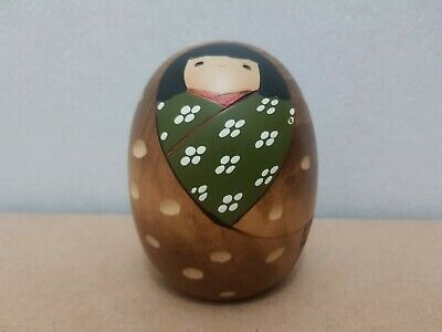 "Japan Made Creative Daruma Kokeshi doll ""Winter"" by Usaburo (9 cm)"