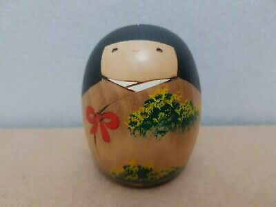 "Japan Made Creative Daruma Kokeshi doll ""Spring"" by Usaburo (9 cm)"
