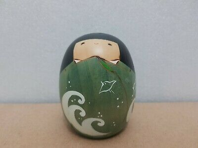 "Japan Made Creative Daruma Kokeshi doll ""Summer"" by Usaburo (9 cm)"