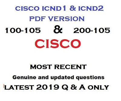 Cisco Icnd1 100-105 and Icnd2 200-105 exam questions and solutions