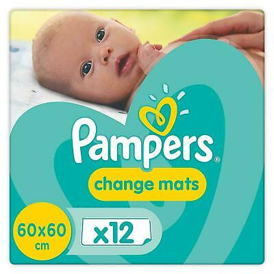 Pampers Baby Change Mats, Travel Disposable Waterproof Super Absorbent - 12 Pack