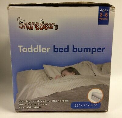 Sharebear Toddler Bed Bumper (Firm, Water-Resistant) New In Open, Worn Box