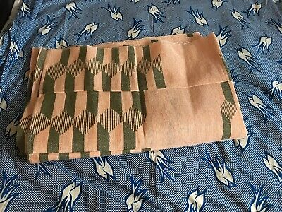 Peach and olve green African fabric ( Ashoke  ) 2 Pieces