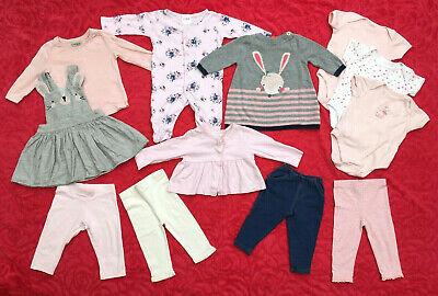 Baby Girl Clothes Bundle ~ 3-6mths ~ 12 Items