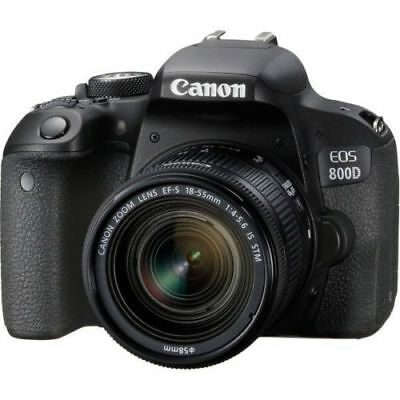 Canon EOS Rebel 800D / T7i 24.2MP Digital SLR Camera w/ EF-S 18-55mm Lens
