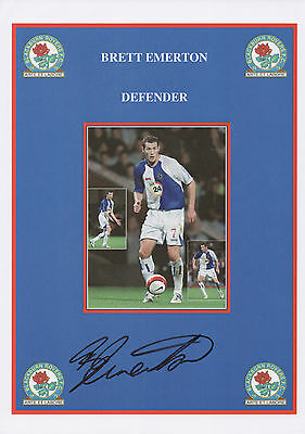 BRETT EMERTON Signed 12x8 Print BLACKBURN ROVERS FC COA