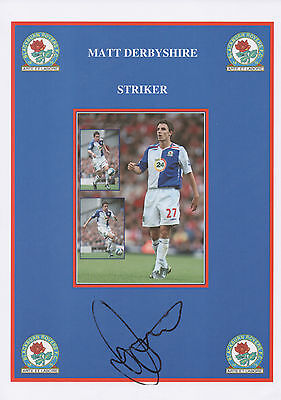 MATT DERBYSHIRE Signed 12x8 Print BLACKBURN ROVERS FC COA