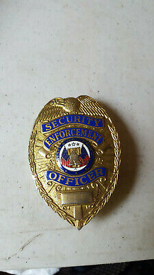 vintage security guard broach liberty bell USA flag silver or gold