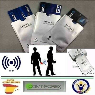 Protector RFID. Funda anti robo tarjeta bancaria. Protector Anti theft bank card