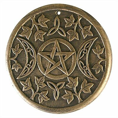 Latex Mould To Make Pentagram & Moon Plaque Pagan Wicca Gothic Style