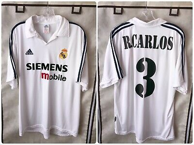 best service 42435 4aa1e REAL MADRID 2002/03 Home Soccer Jersey Large Roberto Carlos 3 Adidas