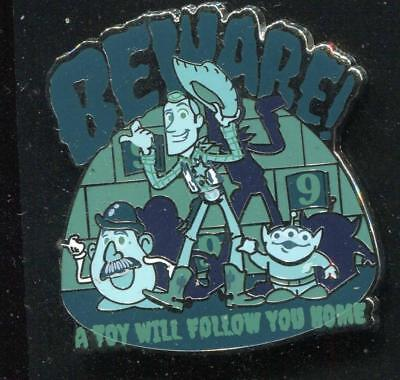 Toy Story Beware! A Toy Will Follow You Home Disney Pin 129948
