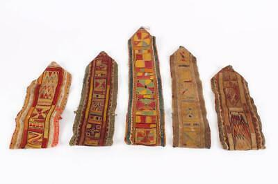 Five Antique Laos Village Textiles