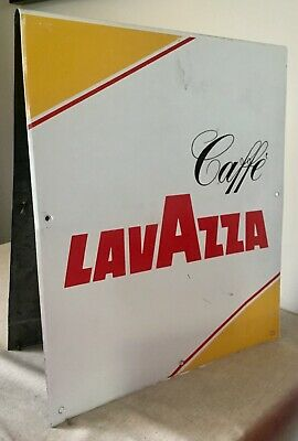 Vecchia Vintage Old Latta Targa Pubblicitaria Caffe' Lavazza Old Advertising Tin