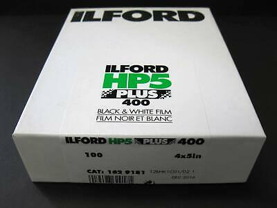 Ilford HP5 Plus 400 Black White Film 4x5 In Sealed 100 Sheet Box ISO 400 12/2016