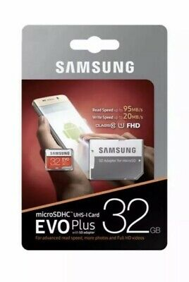 Samsung 32GB Micro SD Card SDHC EVO+ UHS-I Class 10 95MB/s + Adapter Memory Card