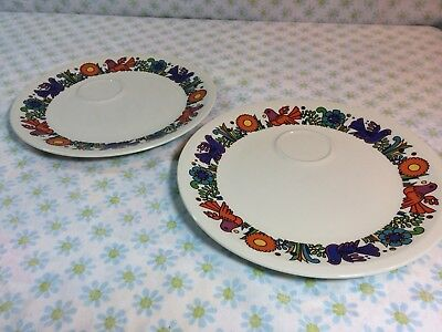 VILLEROY & BOCH ACAPULCO Plates Milano Style Older With Cup Spots Partridge