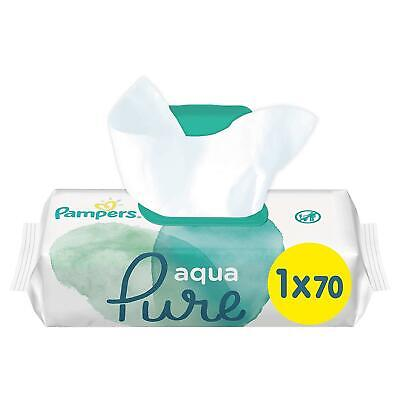 Pampers Baby Changing Wipes Aqua Pure Water - Dermatologically Tested - 70 Pack