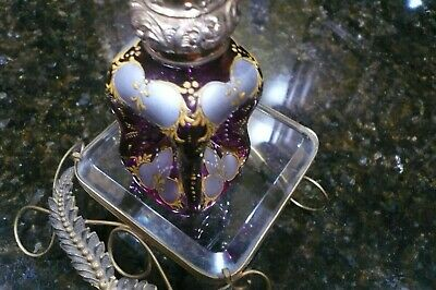 19Th Century Antique French  Pinch Scent Bottle Baccarat