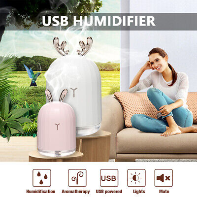 USB Ultrasonic Air Humidifier Essential Oil Aroma Diffuser Aromatherapy 7 Lights