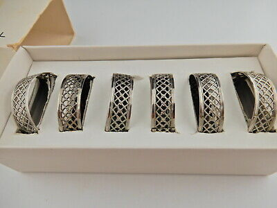 Florantal Serviette Rings Silver Plated Made in England