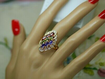 Vintage Jewellery Gold Ring Antique Dress Jewelry Size 9 Or R1/2