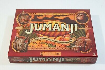 JUMANJI BOARD GAME Full Size Play Pieces - 2017 - Cardinal - NEW! SEALED!
