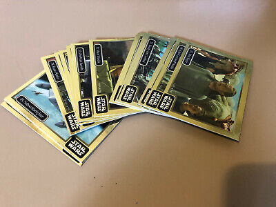 Star Wars - Epsiode 1 - Gold Chase Trading Card BULK Lot of 17 - Ikon - NM