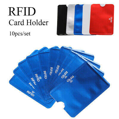 10pcs RFID Credit Card Protector Anti Theft Blocking Card Holder Skin Case Cover