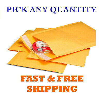 10) ULINE BUBBLE Mailer Size 4x8 Self-Seal Shipping