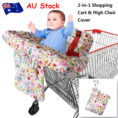 Baby Shopping Supermarket Trolley Cart Cover Seat kids High Chair Protector Mat