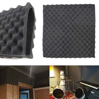 24pcs Soundproof Panel Studio Absorption Treatment Acoustic Soundproof Foam UK