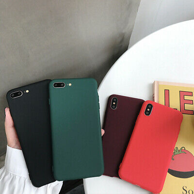 Soft TPU Case for iPhone 8 7 Plus XR XS MAX ShockProof Phone Cover Silicone New