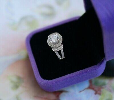 Vintage Jewellery Ring With White Sapphires Antique Deco Dress Jewelry P 8