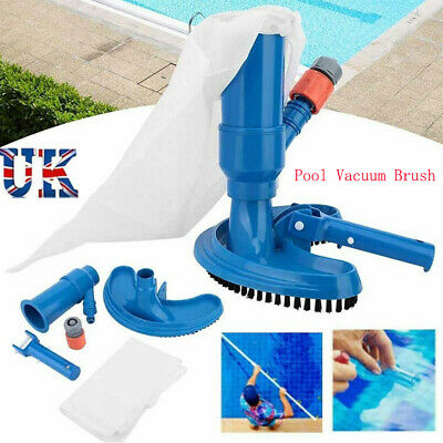 Portable Swimming Pool & Spa Pond Fountain Vacuum Brush Head Cleaner Cleaning