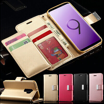 Leather Card Wallet Flip Phone Case Cover For Samsung Galaxy S7 S8 S9 A3 J3 J5
