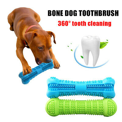 Pet Dog Bone-shape Toothbrush Brushing Chew Toy Stick Teeth Cleaning Oral Care Q