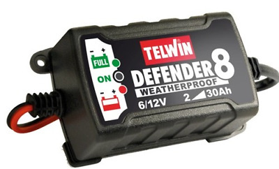 Telwin Defender 8 Battery Charger Charger Automatic Maintainer 6-12V 807553