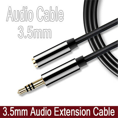 Plug 3.5mm Jack Stereo Aux Cord Audio Extension Cable Extender Male to Female