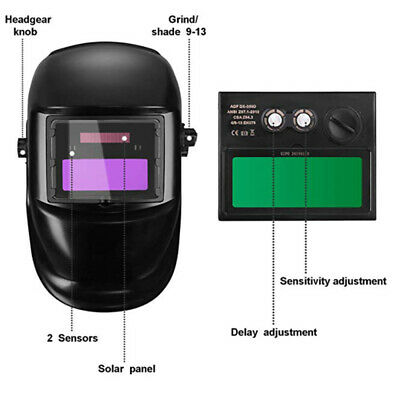Welding Mask Helmet Auto Darkening Solar Powered Welders ARC TIG MIG cxz
