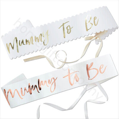 Oh Baby Shower MUMMY TO BE Sash Gender Reveal Party Accessories Mum to Be Sash