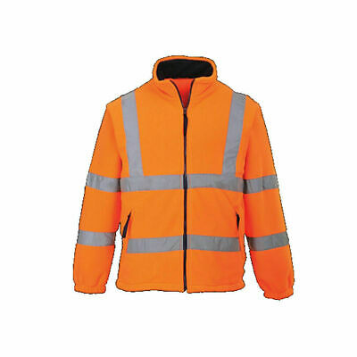 Portwest UF300 Class 3 Hi-Vis 100% Polyester Durable Yellow Lined Fleece Jacket